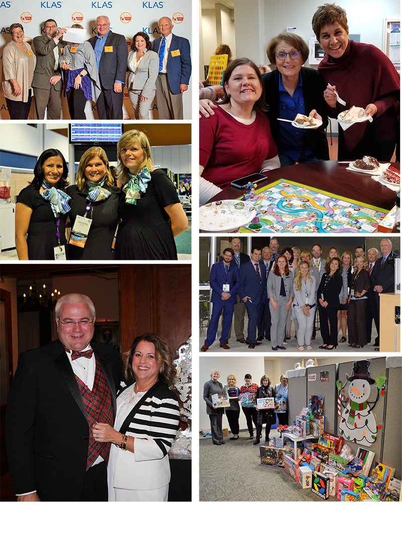 Collage of OBIX Staff at Events